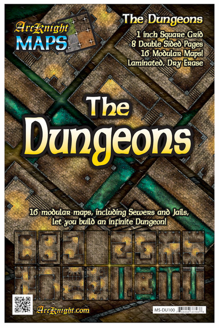 """Dungeons Battle Map—8-piece, 1""""square"""