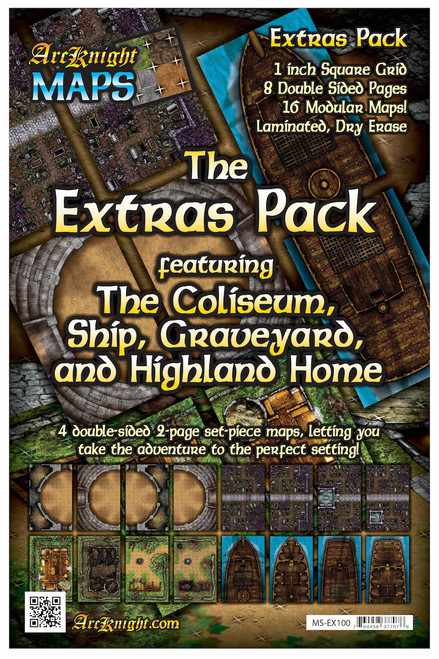 "Extras Battle Map—8-piece, 1""square"