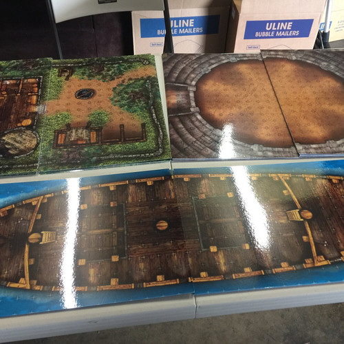 """Extras Battle Map—8-piece, 1""""square (Sold Out)"""