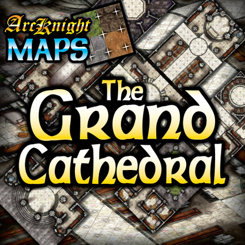 """Grand Cathedral Battle Map—4-piece, 1""""square"""