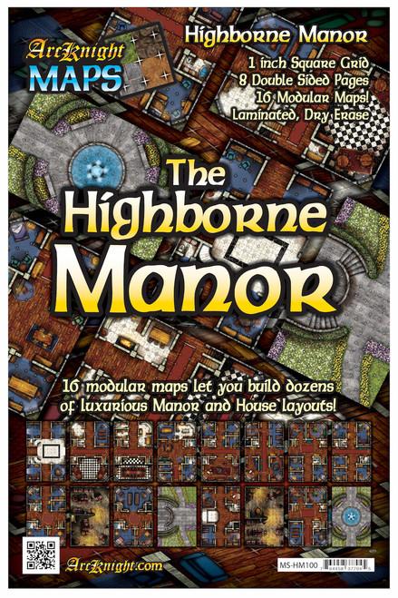 "Highborne Manor Battle Map—8-piece, 1""square"