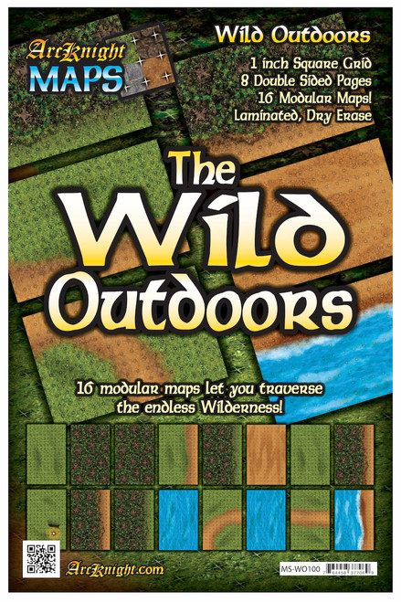 """Wild Outdoors Battle Map—8-piece, 1""""square"""
