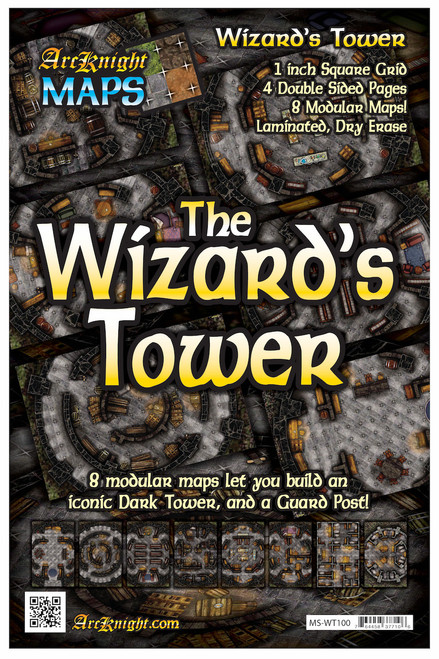 """Wizard's Tower Battle Map—4-piece, 1""""square"""