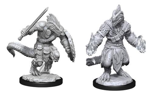 Lizardfolk Barbarian & Cleric—D&D Nolzur's Marvelous Miniatures  W15