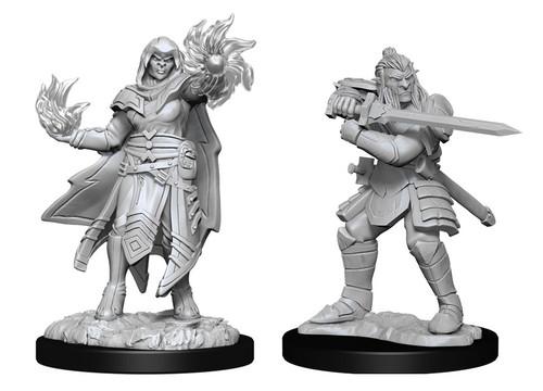 Hobgoblin Fighter Male & Hobgoblin Wizard Female—D&D Nolzur's Marvelous Miniatures  W15