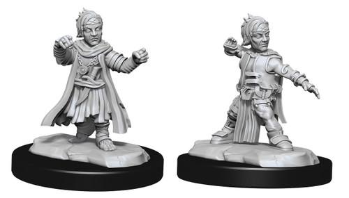 Halfing Monk Male—Pathfinder Deep Cuts Unpainted Miniatures W15