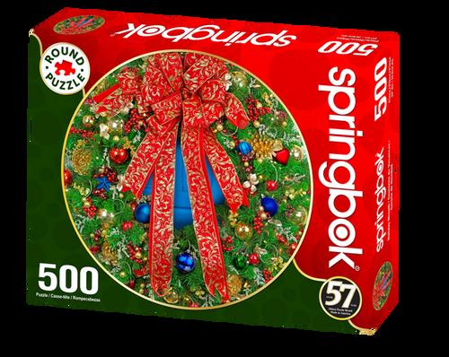 Holiday Wreath 500pc Round