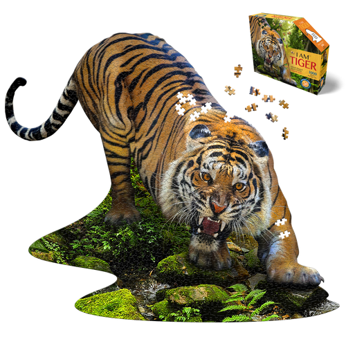 I Am Tiger 1000pc Shaped Puzzle