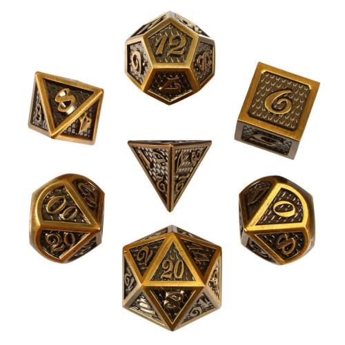 Golden Serpent, Metal Dice Set