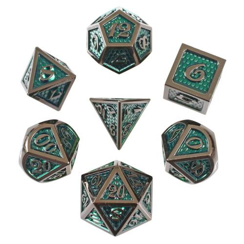 Green Dragon, Metal Dice Set