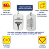 "Classic Tag Medical Alert Necklace, Emergency Medical ID Necklace, Medical Dog Tag- 24/28"" - Style and Color"