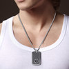 "Mini Black Custom Engraved Medical Alert Necklace, Emergency Medical ID Necklace-24/28"" Various Chain -Color Options"