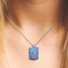 Lovely Filigree Custom Engraved Medical Alert Necklace with Stainless Steel Chain - Style and Color