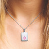 """Sleek Mini Tag Custom Engraved Medical Alert Necklace with Stainless Steel Chain, Medical ID Necklace, 24/28"""" - Color"""