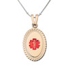 Premier PVD Gold / Rose Gold  Custom Engraved Medical Alert Necklace with Stainless Steel Chain - Style and Color