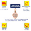 Adorable Heart PVD Gold / Rose Gold Custom Engraved Medical Alert Charm, Medical ID w/Lobster Clasp - Style