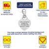 Premier Heart Polished Custom Engraved Medical Alert Charm, Medical ID w/Lobster Clasp - Style