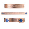 "Faith Custom Engraved Medical Alert Bracelets, Adjustable Medical ID Cuff (fits 6.5-8.0"") - Color"