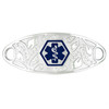 Divoti Custom Engraved  Medical Alert Bracelet -Filigree Tag