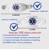 Inter-Mesh Black/Silver Chain for Interchangeable Medical Alert ID Bracelet - Size