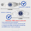 Ridged Stainless Chain for Interchangeable Medical Alert ID Bracelet - Size
