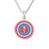Super Hero 316L Tag Medical Alert Necklace, Emergency Medical ID Necklace, Medical Dog Tag- Style and Color