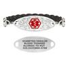 Divoti Custom Engraved Black Twisted Medical Alert Bracelet - Olive Tag