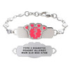 Divoti Custom Engraved Heart Link Medical Alert Bracelet - Princess Tag