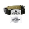 Divoti Custom Engraved Genuine Black Medical Alert Bracelet - Nato Large Tag
