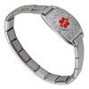 Lovely Filigree Italian Charm Stretch Custom Engraved Medical Alert Bracelets with Modular Charm Band - Color
