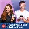 Medical Alert App and wallet card for Corn with Elegant Olive Tag