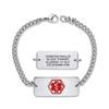 Divoti Custom Engraved Curb Medical Alert Bracelet - Superior Classic Tag
