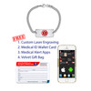 Medical Alert App and wallet card for Curb with Superior Classic Tag