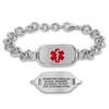 Divoti Titan Elite Pure Titanium Small Custom Engraved Medical Alert Bracelet