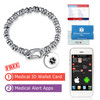 Medical Alert App and wallet card for Filigree Link with Heritage Silver Tag