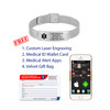 Medical Alert App and wallet card for Mesh with Emergency Medical ID Bands