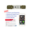 Medical Alert App and wallet card for Paracord with Dual-side Release ID Buckle