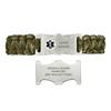 Divoti Paracord Custom Engraved Medical Alert Bracelet-Dual-side Release Buckle