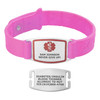 Sport Silicone Small Custom Engraved Medical Alert Bracelet Bands,  1.5-inch Tags - Band Color and Emblem Color