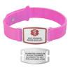 Divoti Custom Engraved Wheat Medical Alert Bracelet - Sport Silicone Tag
