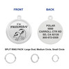 1 OR 1.25-Inch Custom  Engraved Pet ID Tags  w/Split Ring Pack for Dogs and Pet - Various Sizes, Colors and Styles