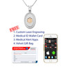 """Premier Disc  Gold/Silver Custom Engraved  Medical Alert Necklace, Emergency Medical ID Necklace, Medical Pendant 24/28"""" - Style and Length"""