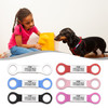 Heavy Duty Jingle-Free Silent Slide-On Collar Pet ID Tags for Cats and Dogs - Various Sizes and Colors