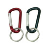 2.5-Inch Long Stainless Steel Carabiner Clip Keychain/Belt Clip  (Twin Pack/Polished/Uncoated) - Various Combos