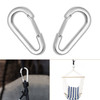2.5-Inch Stainless Steel  Wire Gate  Carabiners, Snap Hook, - 135KG Loading