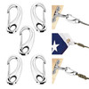 """Heavy Duty Forged Stainless Steel 316 Spring Gate Snap Hook Clip 2"""" - 5 Pieces"""