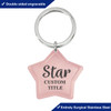 Custom Stainless Steel Keychains - Big Tag - Style