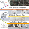 Heavy Duty 2-Way Dog Lead Surgical Stainless-Steel Chain Double Pet Clip Leash Coupler