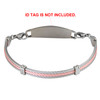 Trio Pink Cable Chain for Interchangeable Medical Alert ID Bracelet, Vertically Connect - Size