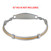 Trio Gold Cable Chain for Interchangeable Medical Alert ID Bracelet, Vertically Connect - Size
